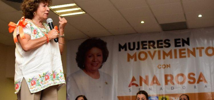 """Realizan el primer foro """"Mujeres en movimiento con Ana Rosa"""""""