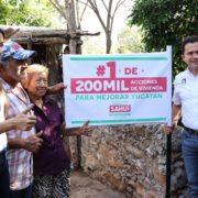 Sahuí se compromete a impulsar 200 mil acciones de vivienda