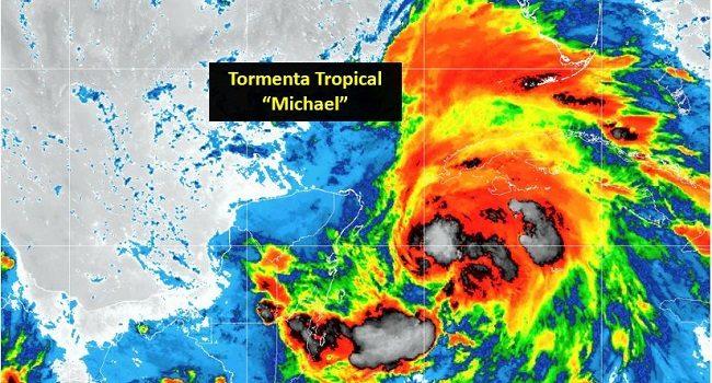 Tormenta Tropical Michael mantiene vientos de hasta 95 km/h