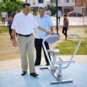 Supervisa Renán trabajos de construcción del parque Paraíso Maya
