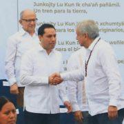 Vila presencia puesta en marcha de Tren Maya