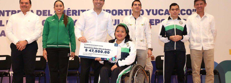 Atletas de Yucatán reciben impulso para continuar triunfando en el deporte