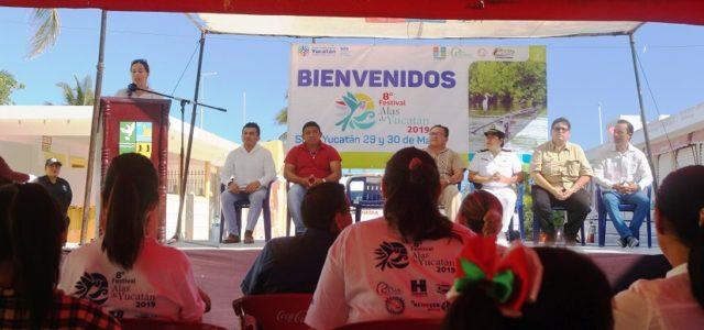 Inauguran octava edición del festival Alas de Yucatán en Sisal
