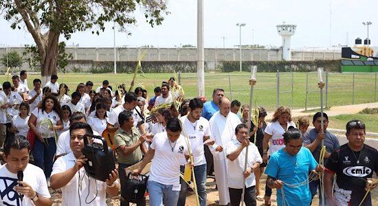 La Semana Santa también inició en el Cereso de Mérida