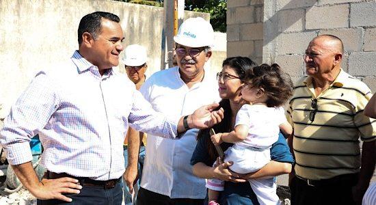 Más familias con mejores condiciones de vida en Mérida