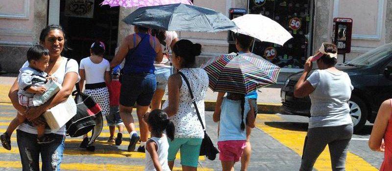 Lluvias y altas temperaturas en Yucatán este fin de semana