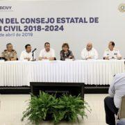 Refuerzan coordinación en materia de protección civil