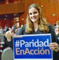 Celebra Cecilia Patrón aprobación de paridad en espacios de servicio público