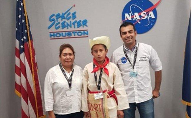Joven motozintleco recibe capacitación en la NASA