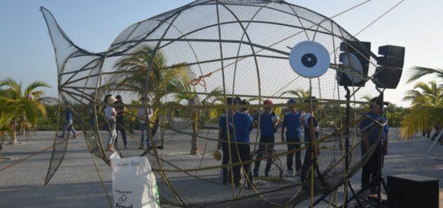 El Playón de Progreso estrena contenedores en forma de pez para recolectar plástico y envases pet