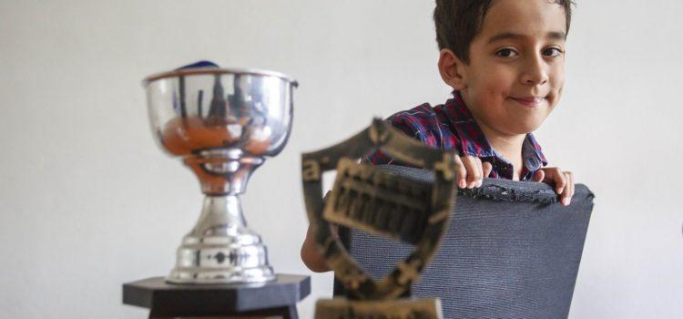 A sus ocho años, Sergio ya es campeón estatal y nacional de la competencia ALOHA Cálculo Mental