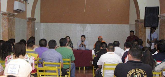 Diego Ávila encabeza instalación de Comité de Protección Civil en Tekax