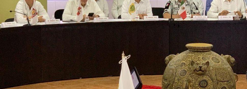 El Gobernador Mauricio Vila Dosal asiste a reunión de trabajo y evaluación de la Estrategia de Seguridad y Migración de la Zona Sur- Sureste
