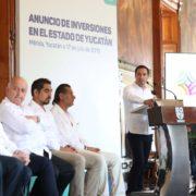 Anuncia el Gobernador Mauricio Vila Dosal nuevas y mayores inversiones para Yucatán