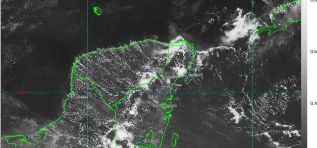 Calor y lluvias se pronostican para mañana viernes en la Península de Yucatán