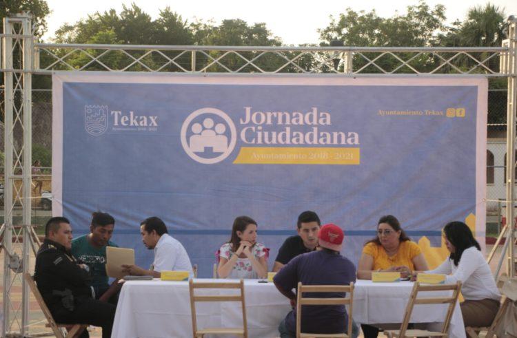 Jornada de servicios públicos en Tekax directamente con la ciudadanía