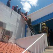 Se electrocutan en el edificio del Comité Directivo Municipal del PAN en Mérida