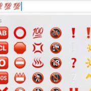 Esto significa el emoji del número 100 de WhatsApp