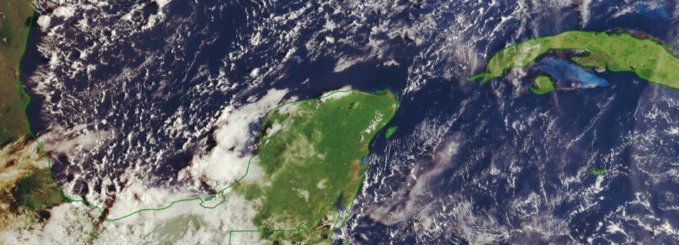 Este domingo se esperan chubascos nocturnos para la Península de Yucatán