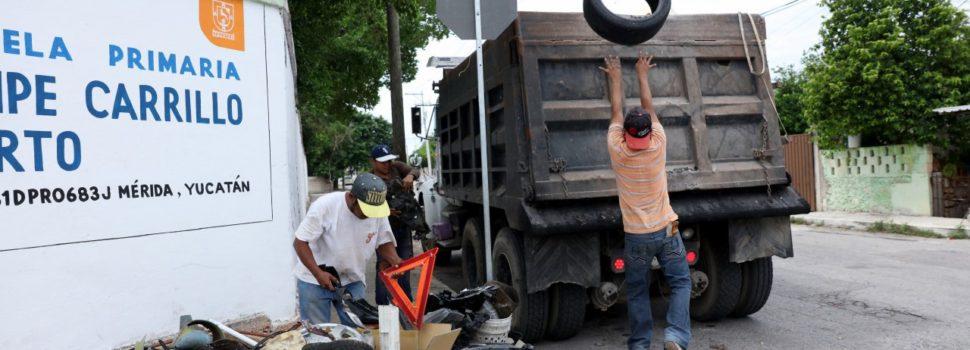 Buena participación ciudadana en la segunda campaña de descacharrización