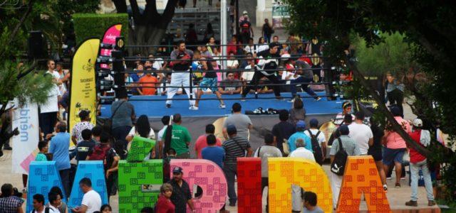 Preparan magna función de box en la Plaza Grande