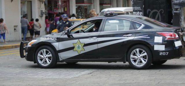 Operativo de la Policía Municipal de Mérida para garantizar la seguridad de los antorchistas
