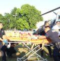 Nuevo helicóptero Bell 429 de SSP traslada a dos adolescentes graves