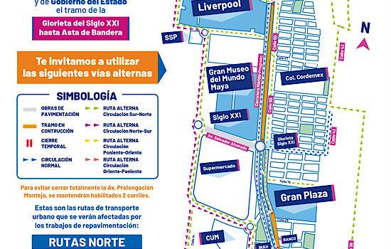 Checa estas vías alternas: este miércoles cierran Prolongación Montejo