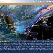 Con fuertes vientos y tormentas el Frente Frío 41 seguirá afectando a la Península de Yucatán