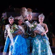 Coronan a los reyes infantiles y juveniles del Carnaval de Mérida
