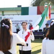 El gobernador Mauricio Vila Dosal realizó el abanderamiento de 35 escoltas y llama a honrar a la Bandera de México