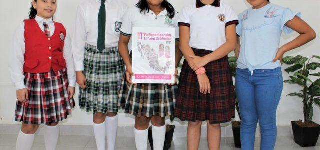 Cinco niñas representarán a Yucatán durante el 11 parlamento infantil