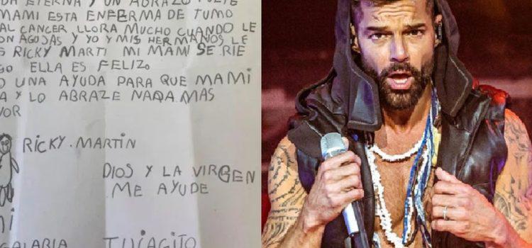 Regalaría la vida eterna: niño pide que su mamá enferma conozca a Ricky Martin