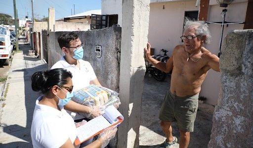 Gobierno de Yucatán comienza la distribución casa por casa de apoyos alimentarios a grupos vulnerables