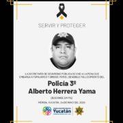 Por Covid-19 fallece policía de la SSP Yucatán, es el segundo caso en la corporación