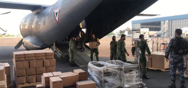 Ejército Mexicano entrega otras toneladas de insumos médicos a Yucatán