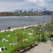 Geometría y distanciamiento social: la nueva iniciativa en parque en Nueva York