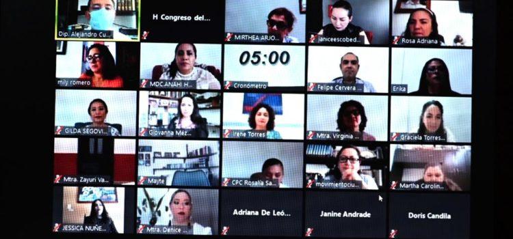 Comparecen candidatas al cargo de comisionada del INAIP