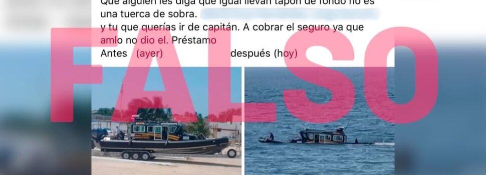 SSP denuncia ante FGE a autor de información dolosa sobre el hundimiento de la nueva lancha