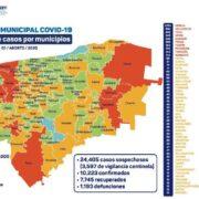 Agosto comienza con 456 nuevos contagios por Covid-19 y 32 decesos en Yucatán