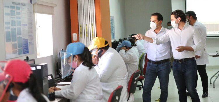 Monitorea el Gobernador Mauricio Vila el rastreo vía mensajes y llamadas para prevenir la propagación del Coronavirus