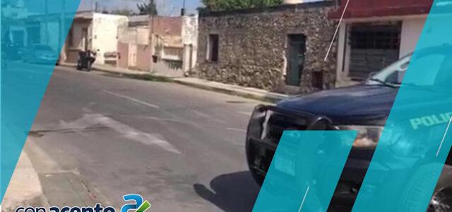 Presunto ataque a agentes policiacos en el centro de Mérida