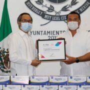 Nuevo donativo de la comunidad china al Ayuntamiento de Mérida: 30 mil cubrebocas