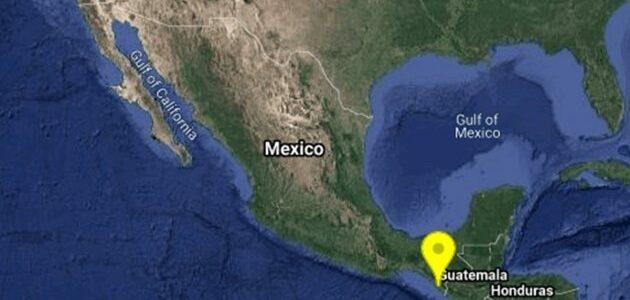 Reportan sismo de 5.3 grados en Huixtla, Chiapas