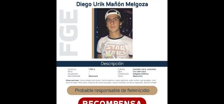 Un millón de pesos ofrece de recompensa por Diego, presunto asesino de Jessica