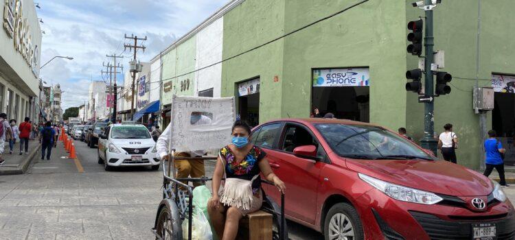 Surge el tricitaxi en el Centro Histórico de Mérida, te lleva a tu paradero