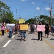 Protestan artesanos en Pisté: exigen apertura de Chichén Itzá