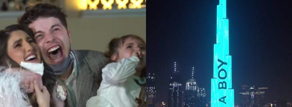 Revelan género de su bebé en el edificio más alto del mundo