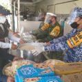 Ejército Mexicano proporciona alimento a familias yucatecas damnificadas por Zeta