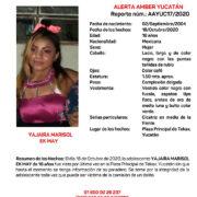 Activan Alerta Ámber por Yajaria Marisol, adolescente extraviada en Tekax